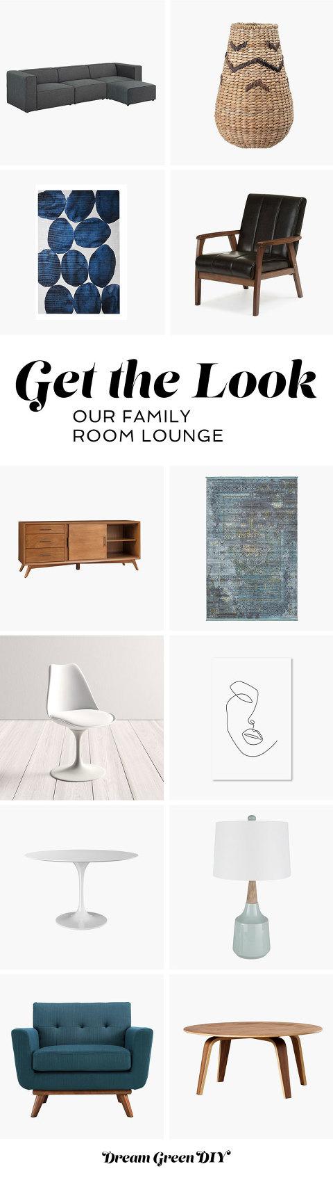 Mid-century living room furniture ideas