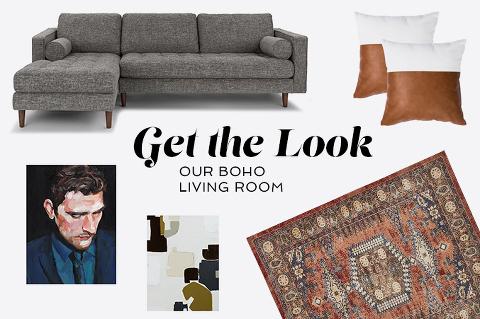 Boho living room décor