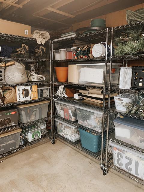 Basement organization ideas