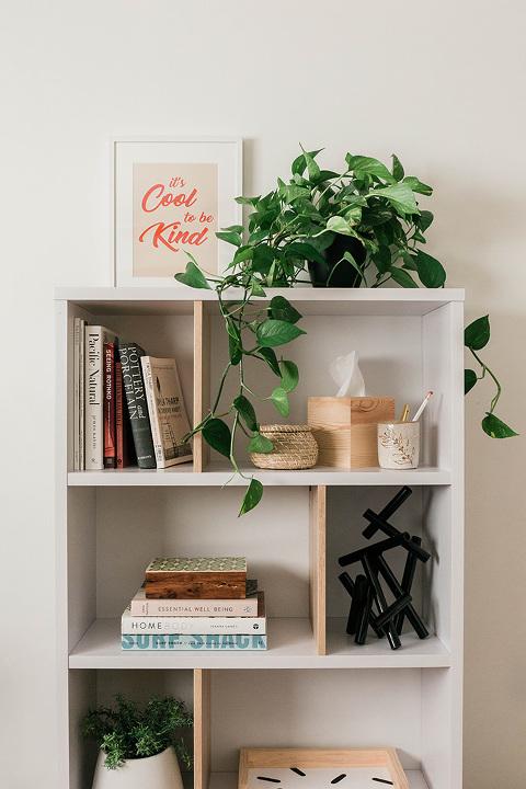AllModern Bookshelf Entryway Makeover   dreamgreendiy.com + @allmodern #ad