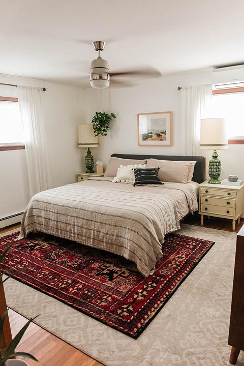 Boho master bedroom refresh