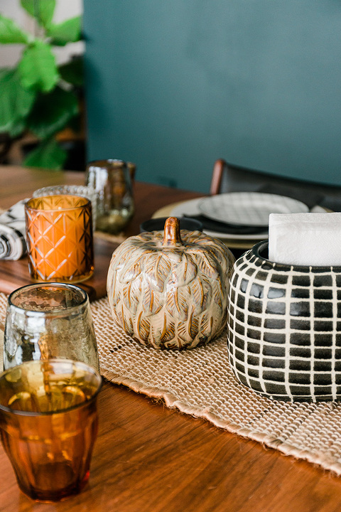 Decorating with fall pumpkins