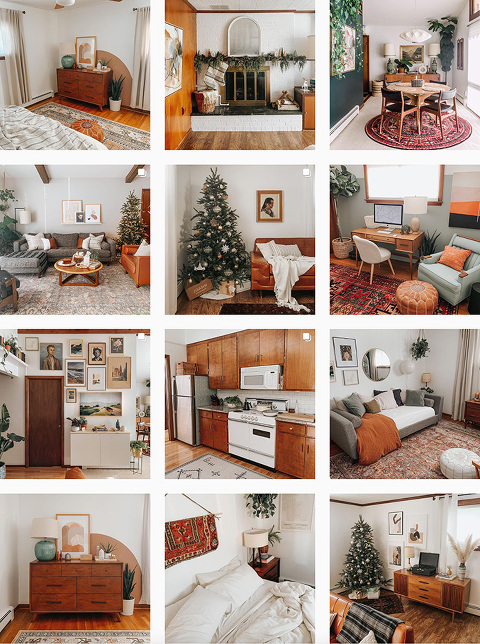 Mid-century modern home décor Instagram account