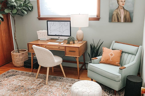 A New Rug And Office Color Scheme | dreamgreendiy.com + @LoloiRugs #ad