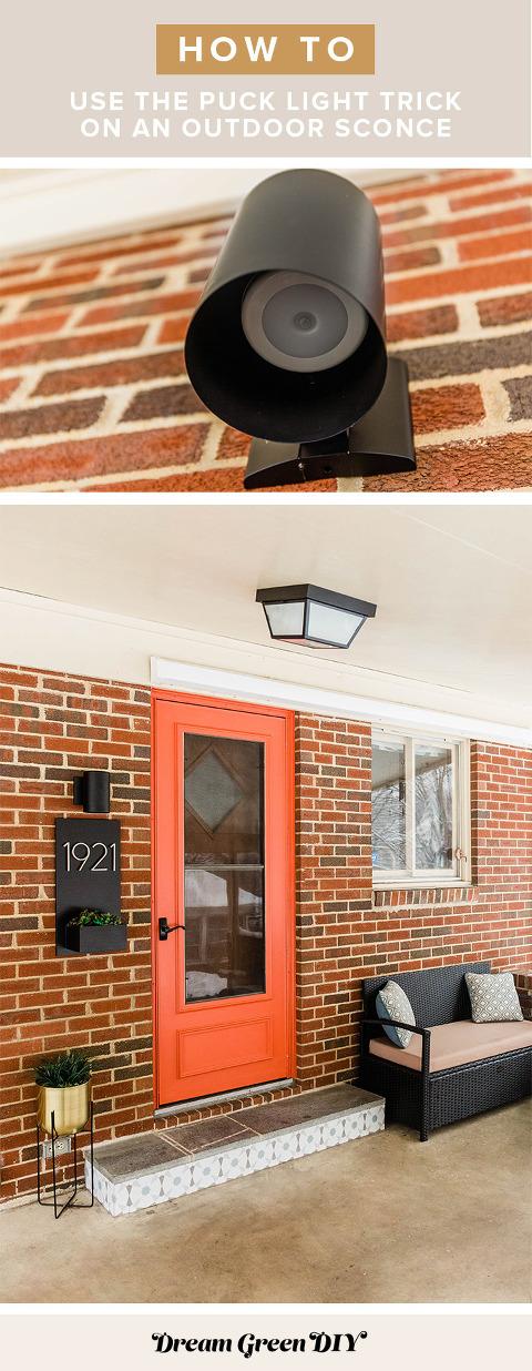 Puck Light Trick On A Porch Light