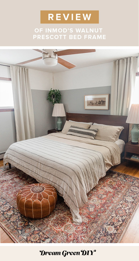 Review Of InMod's Prescott Bed Frame | dreamgreendiy.com + @inmod #gifted